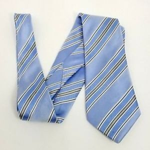 Trump mens tie baby blue diagonal striped 3.5 x 62